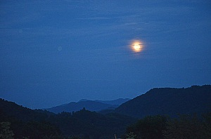 maggie valley, north carolina blue moon