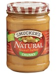 No added sugar in this peanut butter!  Just peanuts! & they make a jam that has less added sugar. MMMM!