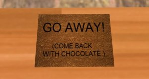 A PRODUCT PICTURE, DOORMAT, GO AWAY, COME BACK WITH CHOCOLATE 2_001